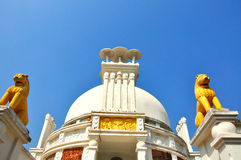 Orissa la India del templo de la paz Imagenes de archivo
