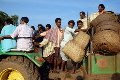 Orissa's tribal people at weekly market. Stock Photos