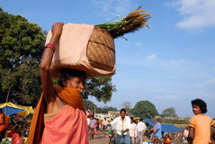 Orissa's tribal people at weekly market Stock Photography