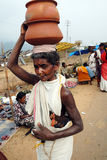 Orissa's tribal people at weekly market Royalty Free Stock Photography