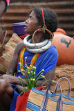 Orissa's tribal woman at weekly market Stock Image