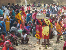 Orissa tribal rural weekly market Royalty Free Stock Image
