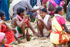 Orissa tribal rural weekly market Stock Photography