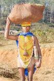 orissan部族妇女 免版税库存照片