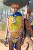 orissan部族妇女 图库摄影