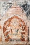 Oriyan Style Narasimha Mural. Royalty Free Stock Photo