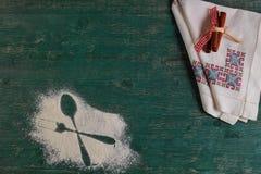 Orizontal kulinarisk backround fotografering för bildbyråer