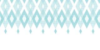 Orizzontale blu pastello del diamante del ikat del tessuto illustrazione vettoriale