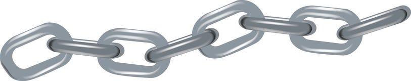 Orizzontale a catena della maglia dell'acciaio grande Immagine Stock Libera da Diritti