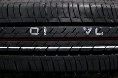 Orizzontale del pneumatico dell'automobile Immagine Stock Libera da Diritti