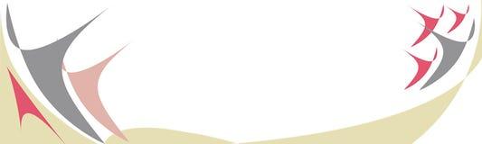 Orizzontale dell'insegna Blu, rosa, beige Immagini Stock