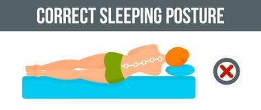 Orizzontale dell'insegna di posizione di sonno, stile piano royalty illustrazione gratis