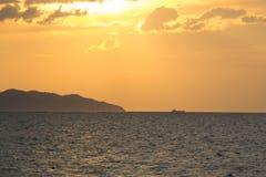 Orizzontale di vista sul mare Immagine Stock