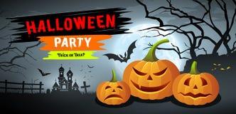 Orizzontale felice dell'insegna delle collezioni di Halloween royalty illustrazione gratis