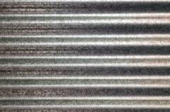 Orizzontale ondulato di struttura del metallo galvanizzato zinco fotografia stock libera da diritti