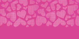 Orizzontale rosa di struttura del tessuto dei cuori del pizzo Fotografie Stock