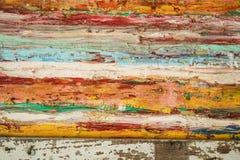 Orizzontale variopinto del manifesto sul legno fotografie stock