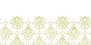 Orizzontale verde del fiore del damasco del tessuto di vettore Fotografia Stock Libera da Diritti