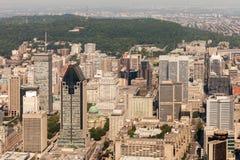 Orizzonte aereo di Montreal fotografia stock libera da diritti
