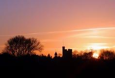 Orizzonte al tramonto Fotografia Stock