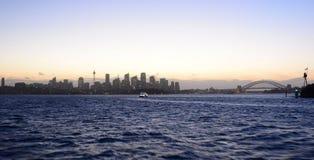 Orizzonte al tramonto sydney Il Nuovo Galles del Sud l'australia Fotografie Stock