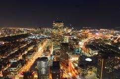 Orizzonte alla notte, Massachusetts, U.S.A. di Boston fotografie stock