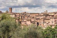 Orizzonte antico della Toscana Immagine Stock