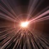 Orizzonte astratto di velocità del filo di ordito Fotografie Stock