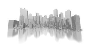 Orizzonte astratto grigio largo Fotografie Stock Libere da Diritti