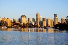 Orizzonte Australia della città di Brisbane Fotografie Stock