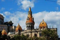 Orizzonte a Barcellona Immagine Stock