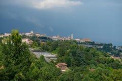 Orizzonte Bergamo Fotografia Stock