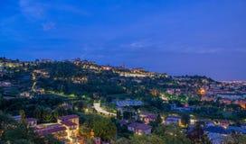 Orizzonte Bergamo Immagini Stock