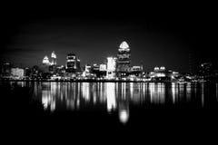 Orizzonte in bianco e nero a Cincinnati Fotografia Stock Libera da Diritti