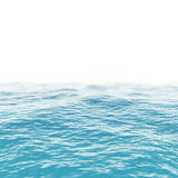 Orizzonte blu della superficie dell'acqua di mare con profondità degli effetti di campo illustrazione 3D Fotografia Stock