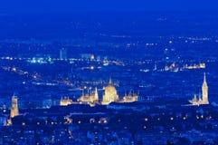 Orizzonte Budapest, Ungheria Fotografie Stock Libere da Diritti
