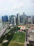 Orizzonte centrale del distretto aziendale di Singapore Fotografia Stock Libera da Diritti