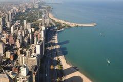 Orizzonte Chicago Immagini Stock Libere da Diritti