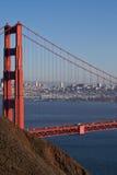 Orizzonte classico della foto di golden gate bridge Immagine Stock
