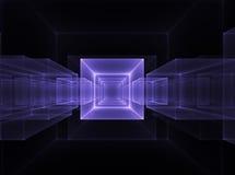 Orizzonte cubico al neon Fotografia Stock