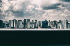 Orizzonte dal terrazzo Fotografie Stock Libere da Diritti