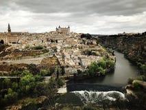 Orizzonte de la ciudad de Toledo España Fotografie Stock Libere da Diritti