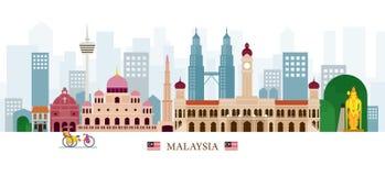 Orizzonte dei punti di riferimento della Malesia Immagine Stock Libera da Diritti
