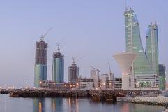 Orizzonte del Bahrain Fotografie Stock