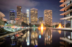 Orizzonte del centro di Los Angeles Fotografia Stock Libera da Diritti
