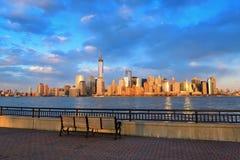 Orizzonte del centro di Manhattan Immagini Stock