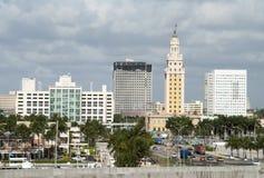Orizzonte del centro di Miami fotografie stock libere da diritti