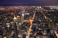 Orizzonte del centro di New York City Manhattan Fotografie Stock