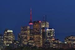 Orizzonte del centro di Toronto immagini stock libere da diritti
