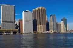 Orizzonte del centro NYC Fotografie Stock Libere da Diritti